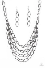 Load image into Gallery viewer, Chain Reaction Black Necklace