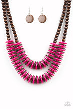 Load image into Gallery viewer, Dominican Disco Pink Necklace
