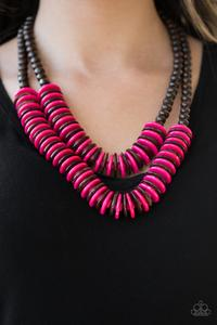 Dominican Disco Pink Necklace