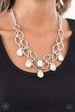 Load image into Gallery viewer, Show - Stopping Shimmer Blockbuster White Necklace