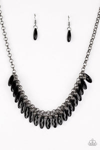 Jersey Shore Black Necklace