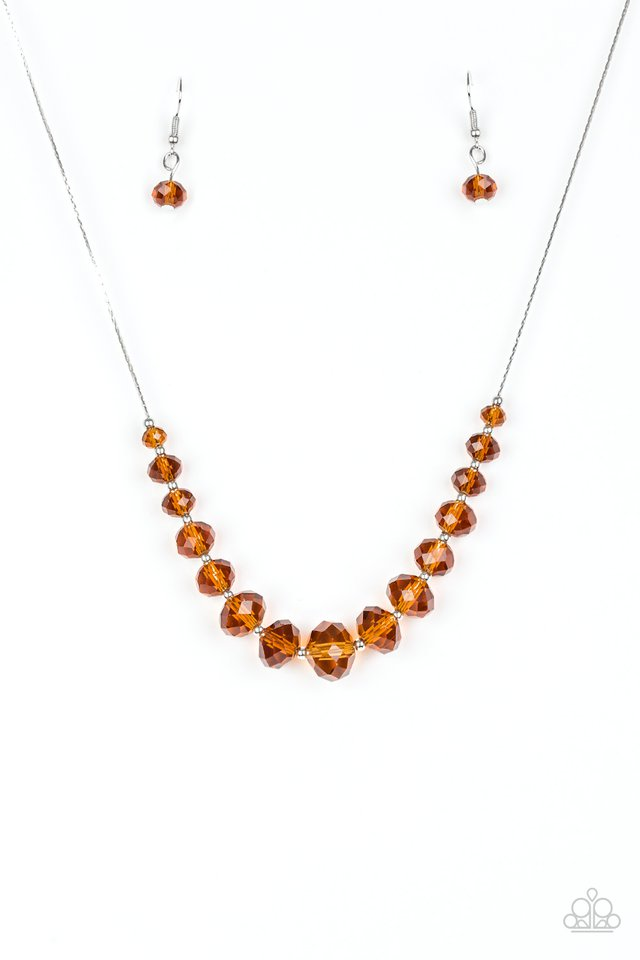 Crystal Carriages Brown Necklace