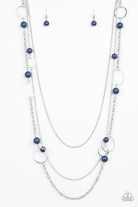Beachside Babe Blue Necklace