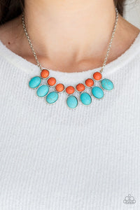 Environmental Impact Blue Necklace