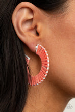 Load image into Gallery viewer, Everybody Conga! Orange Earring
