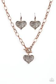 Heart-Touching Harmony Copper Necklace