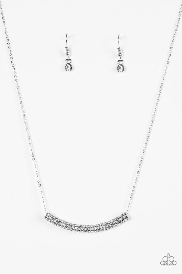 Metro Magnificence White Necklace