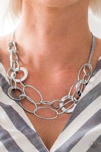 Load image into Gallery viewer, Metallic Maverick Silver Necklace
