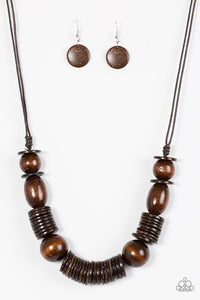 You Better BELIZE It! Brown Necklace