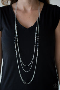 Shimmer Showdown Silver Necklace