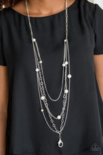 Load image into Gallery viewer, Glamour Grotto Lanyard White Necklace