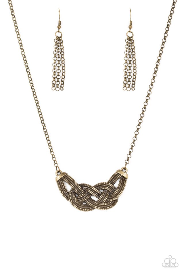 Nautically Naples Brass Necklace