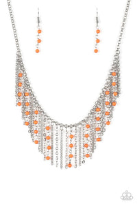 Harlem Hideaway Orange Necklace