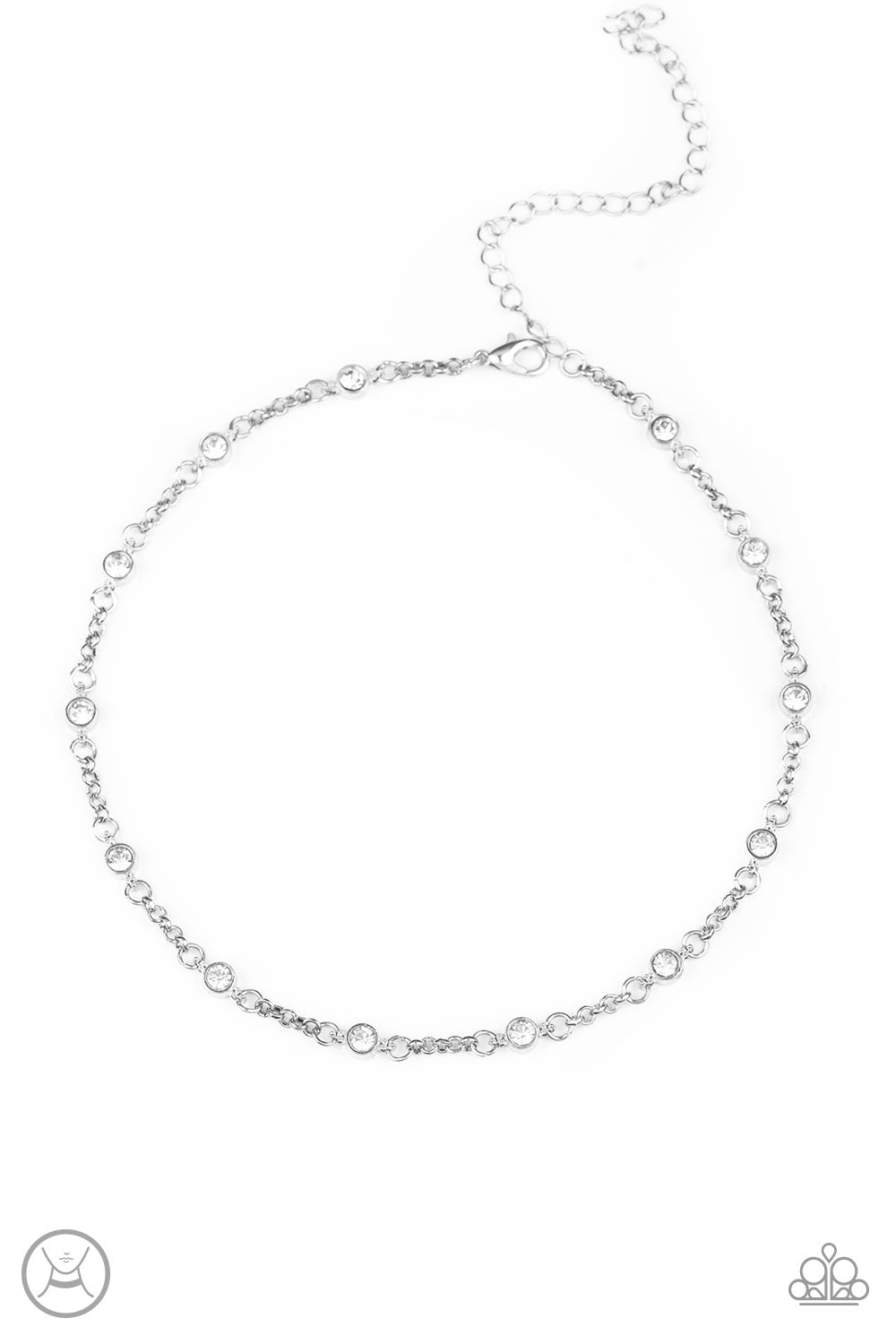 Stunningly Stunning Choker White Necklace
