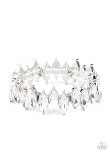 Fiercely Fragmented White Bracelet