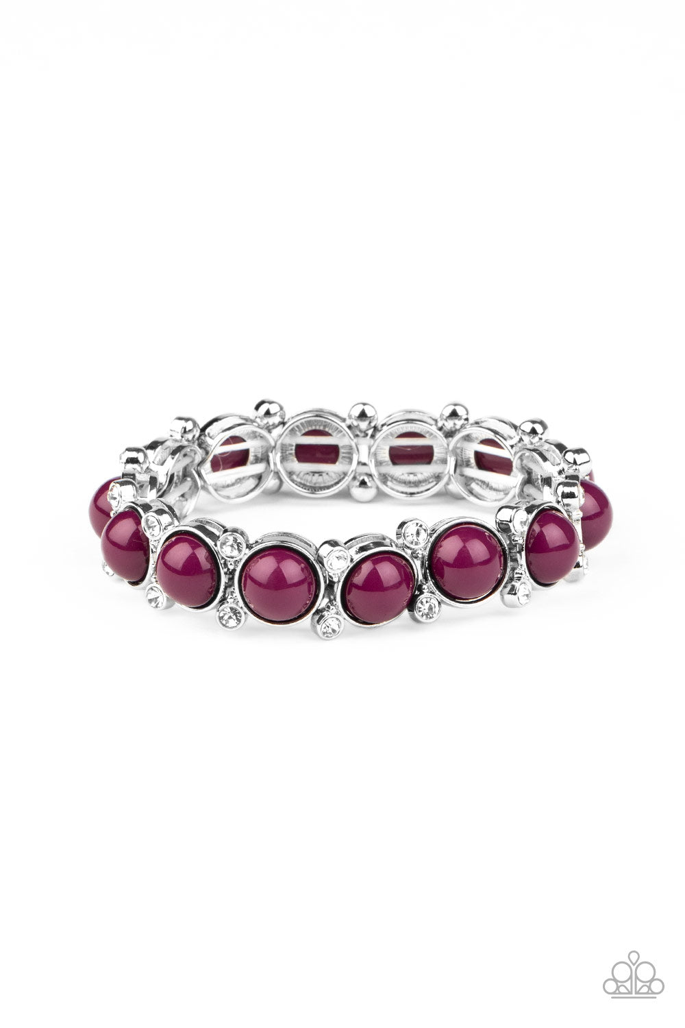 Flamboyantly Fruity Purple Bracelet