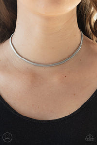 Flat Out Fierce Silver Necklace