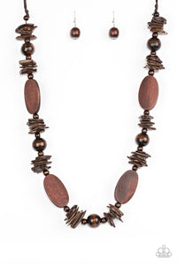 Carefree Cococay Brown Necklace