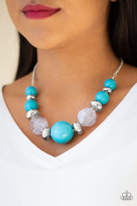 Daytime Drama Blue Necklace