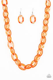 Ice Queen Orange Necklace