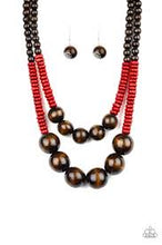 Load image into Gallery viewer, Cancun Cast Away Red Necklace