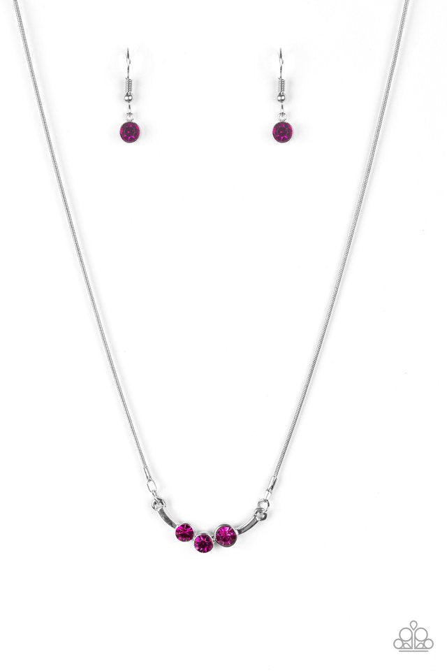 Sparkling Stargazer Pink Necklace