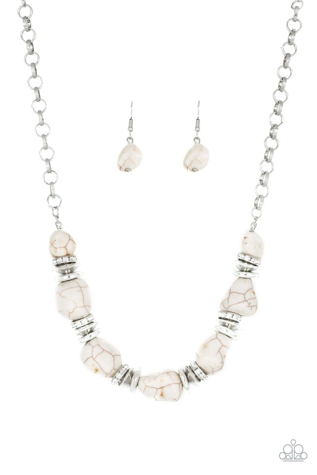 Stunningly Stone Age White Necklace