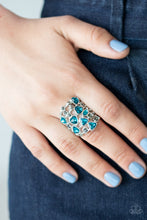 Load image into Gallery viewer, Glitter Flirt Blue Ring