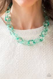 Ice Queen Green Necklace