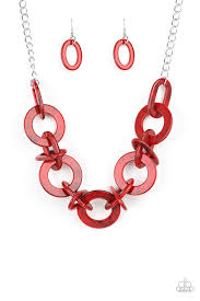 Chromatic Charm Red Necklace