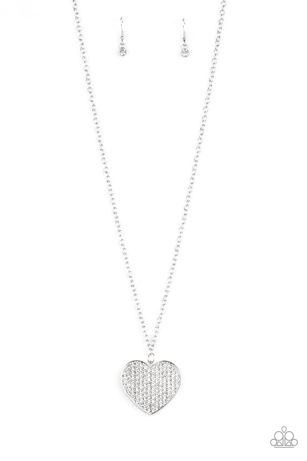 Have To Learn The Heart Way White Necklace
