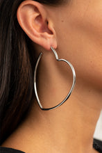 Load image into Gallery viewer, Heartbreaker Hustle Silver Earring