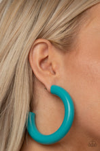 Load image into Gallery viewer, I WOOD Walk 500 Miles Blue Earring
