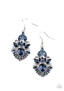 Ice Castle Couture Blue Earring