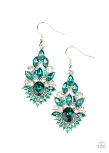 Ice Castle Couture Green Earring