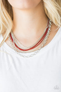Intensely Industrial Red Necklace