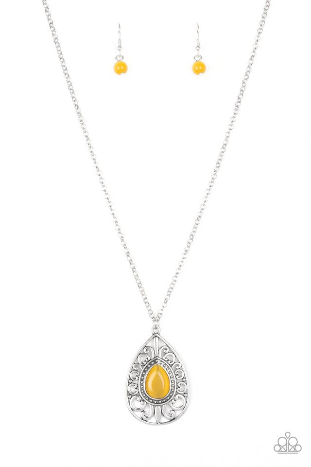 Modern Majesty Yellow Necklace