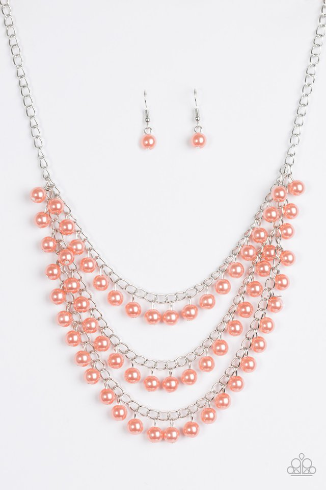 Chicly Classic Orange Necklace