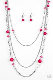 Triple Tango Pink Necklace