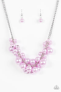 Glam Queen Purple Necklace