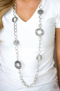 Industrial Mayhem Silver Necklace