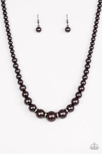 Party Pearls Black Necklace