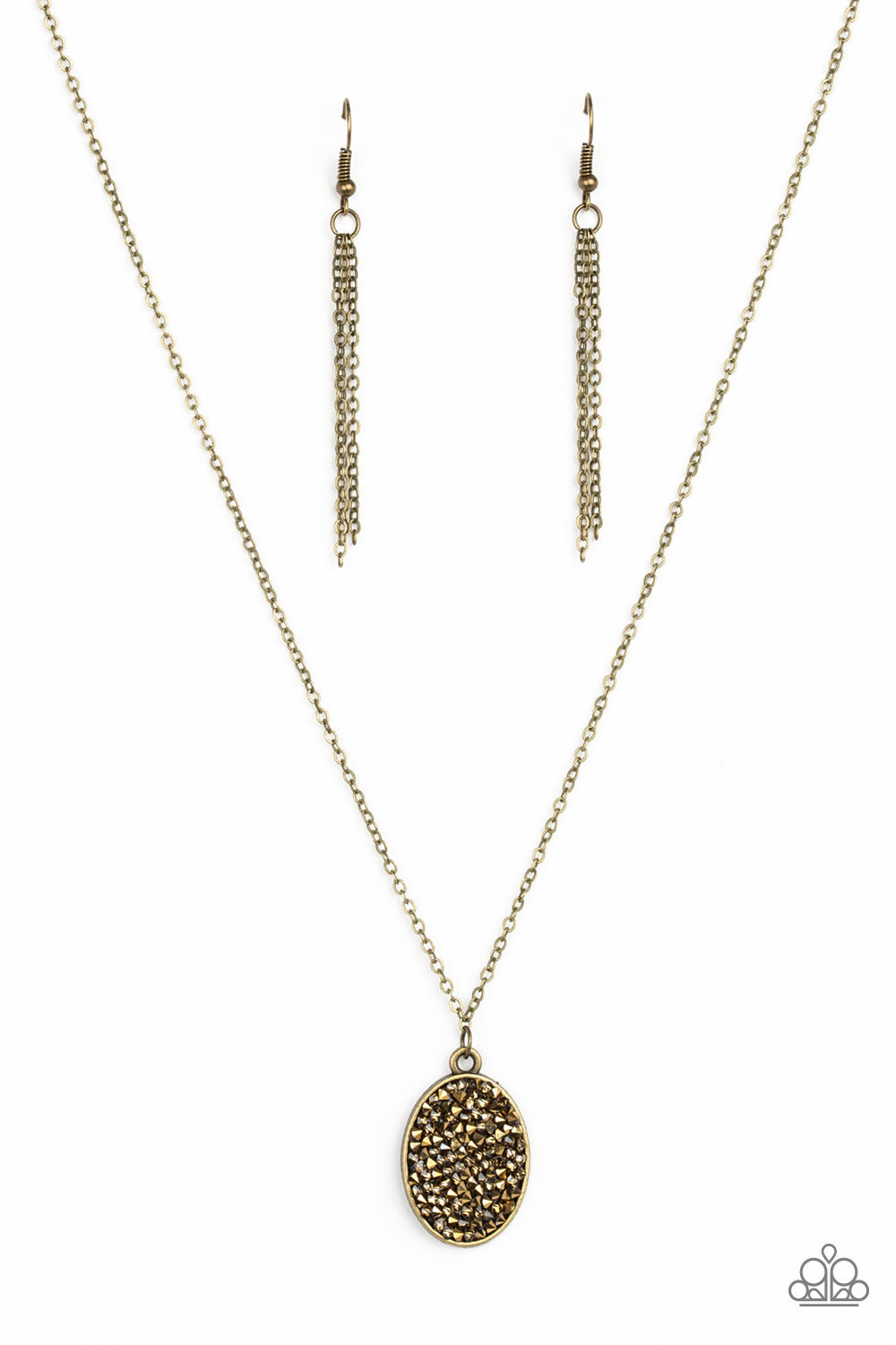Star-Crossed Stargazer Brass Necklace