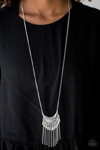Happy Is The Huntress Silver Necklace