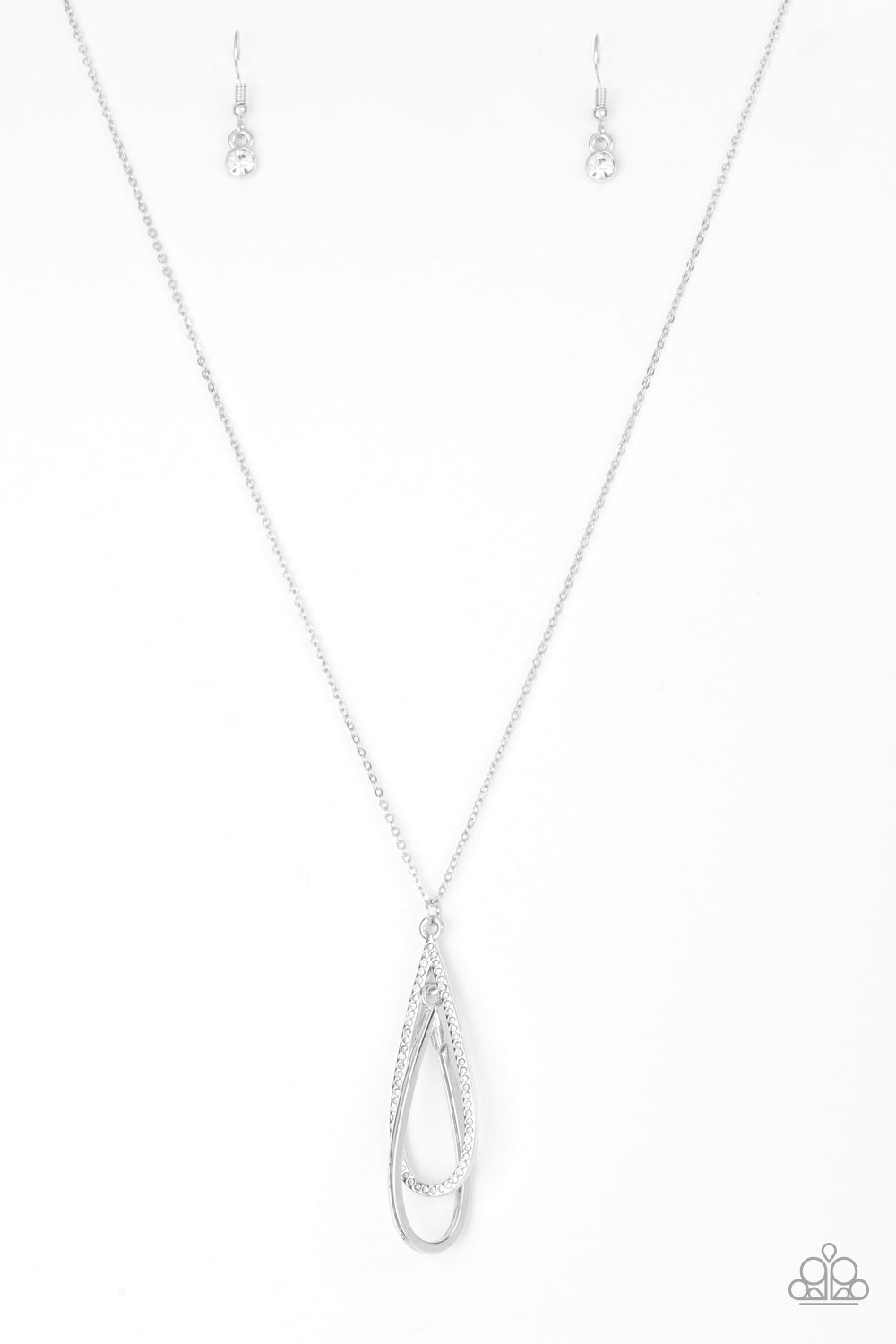 Step Into The Spotlight White Necklace