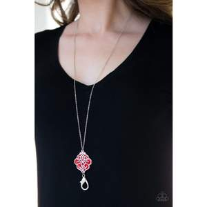 Malibu Mandala Lanyard Red Necklace