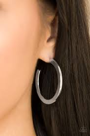 Be All BRIGHT Silver Hoop Earring