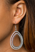 Load image into Gallery viewer, Award Show Sparkle White Earring