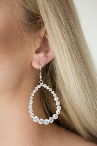 Rise And Sparkle White Earring