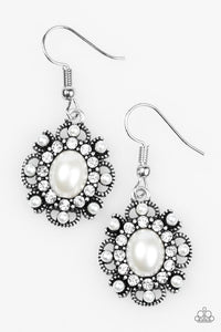 Blooming Romance White Earring